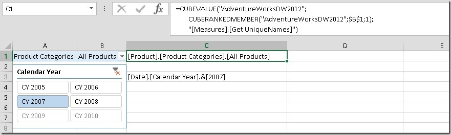 Excel_MDX_CUBEVALUE_UniqueNames_Filter