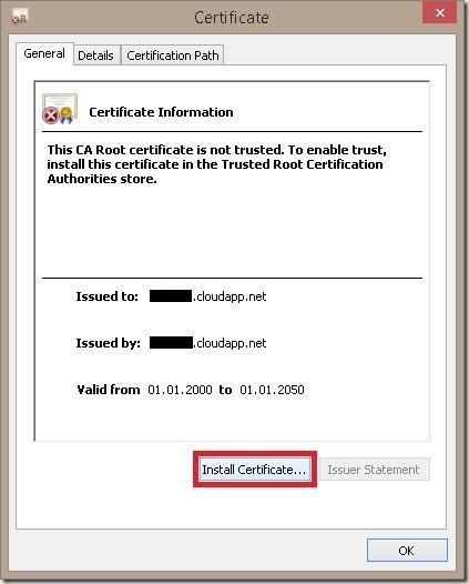 InstallCertificate